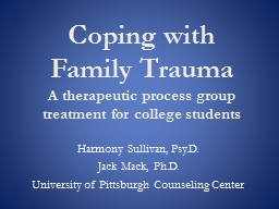 Coping with Family  Trauma