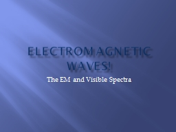 Electromagnetic Waves! The EM and Visible Spectra