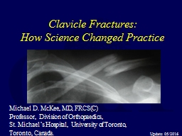 Clavicle Fractures: How Science Changed Practice