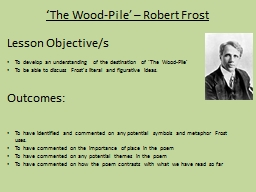 'The Wood-Pile' – Robert Frost