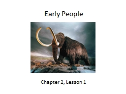 Early People Chapter 2, Lesson 1