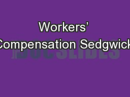 Workers' Compensation Sedgwick: