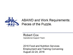 Abled Bodied Adults Without Dependents (ABAWD) and Work Requirements