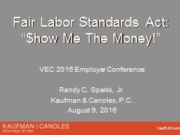Fair Labor Standards Act: