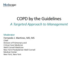 COPD by the Guidelines Introduction