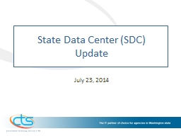 State Data Center (SDC)