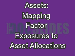 Factors to Assets: Mapping Factor Exposures to Asset Allocations