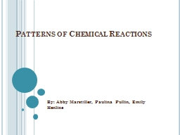 Patterns of Chemical Reactions