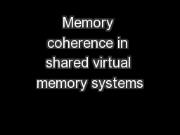 Memory coherence in shared virtual memory systems