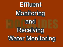 1 Module 6 Effluent Monitoring and Receiving Water Monitoring