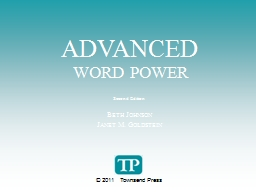 ADVANCED     WORD POWER Second Edition