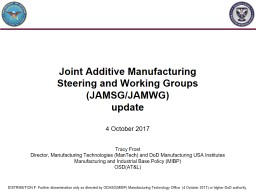 Joint Additive Manufacturing PowerPoint PPT Presentation