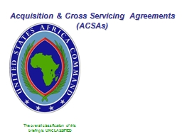 Acquisition & Cross Servicing Agreements