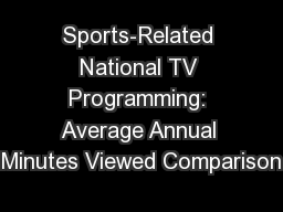 Sports-Related National TV Programming: Average Annual Minutes Viewed Comparison