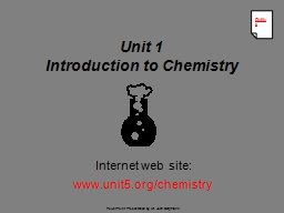 Unit 1 Introduction to Chemistry PowerPoint PPT Presentation