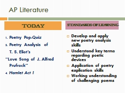 Poetry Pop-Quiz Poetry Analysis of PowerPoint PPT Presentation