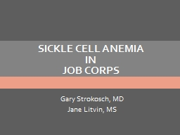 SICKLE CELL ANEMIA in JOB CORPS