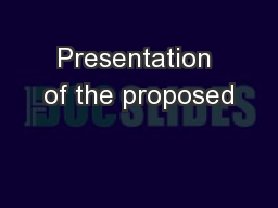 Presentation of the proposed