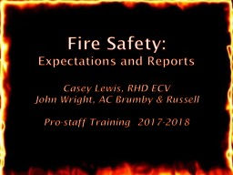 Fire  Safety: Expectations