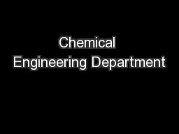 Chemical Engineering Department