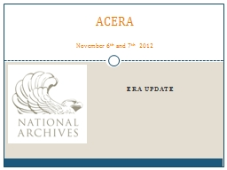 ERA Update ACERA November 6