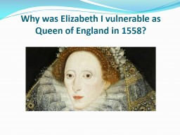 What foreign threats did Elizabeth I face in