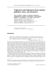 Exploratory and conrmatory factor analysis guidelines