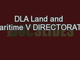 DLA Land and Maritime V DIRECTORATE