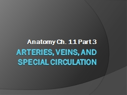 Arteries, Veins, and Special Circulation