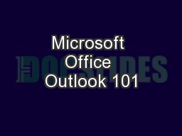 Microsoft Office Outlook 101