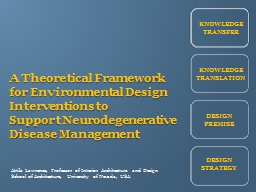 A Theoretical Framework for Environmental Design Interventions to