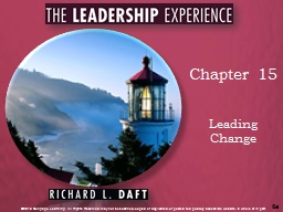 Chapter 15 Leading Change