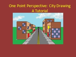 One Point Perspective: City Drawing