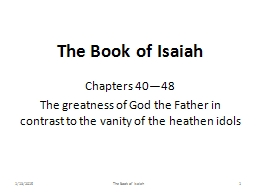 The Book of Isaiah Chapters 40—48
