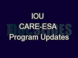 IOU CARE-ESA Program Updates PowerPoint PPT Presentation