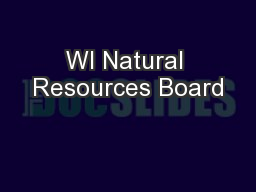 WI Natural Resources Board