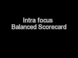 Intra focus Balanced Scorecard