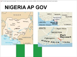 NIGERIA AP GOV More than 54.7% of the population (75 million people) live below the poverty line in