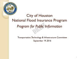 City of Houston National Flood Insurance Program