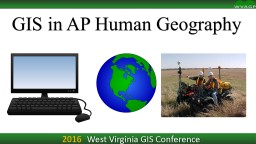 2016 West Virginia GIS Conference
