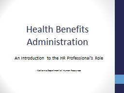 Health Benefits Administration