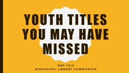 Youth Titles You May Have Missed