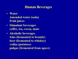 Human Beverages Water Amended