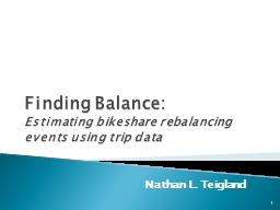 Finding Balance : Estimating