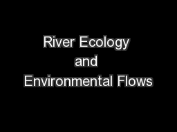 River Ecology and Environmental Flows
