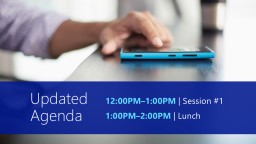 Updated  Agenda 12:00PM–1:00PM PowerPoint PPT Presentation