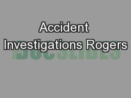 Accident Investigations Rogers