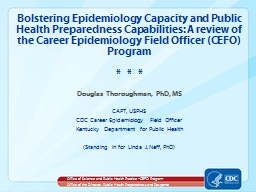 Bolstering Epidemiology Capacity and Public