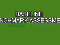 BASELINE BENCHMARK ASSESSMENT