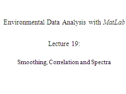 Environmental Data Analysis with